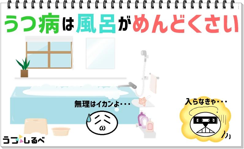 うつ病(鬱病)のお風呂はめんどくさい(面倒)